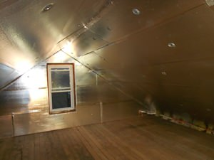 A Cleveland attic with SuperAttic installed.