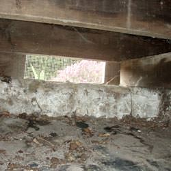 A crawl space vent in North Olmsted that's bringing moisture into the home