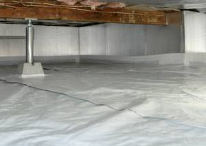 A sealed, insulated, and structurally repaired Massillon crawl space